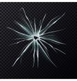 Cracks on splitted window or shattered mirror vector image vector image