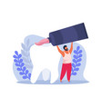 dental hygiene icon vector image vector image