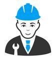developer flat icon vector image