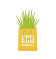 eco recycle bag green set vector image vector image