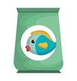 fish bag food mascot vector image vector image