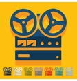Flat design stereo recorder vector image vector image