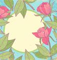 Flower vintage pink vector image vector image