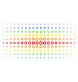 gear spectral halftone matrix vector image vector image