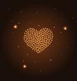 golden heart from butterflies gold heart vector image