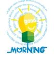 Good morning greeting card poster print vector image vector image