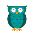 happy cute owl icon imag vector image vector image