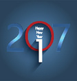happy new year typography design vector image vector image