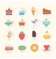 icons dessert vector image vector image