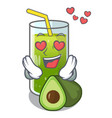 in love avocado smoothies are isolated on vector image vector image