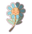 kawaii flower plant happy cheeks and close eyes vector image vector image