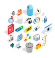 laptop icons set isometric style vector image vector image