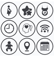 Maternity icons Baby infant pregnancy dummy vector image vector image