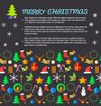 merry christmas congratulation decorative card vector image vector image