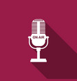 Microphone icon isolated with long shadow