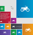 Motorbike icon sign buttons Modern interface vector image vector image
