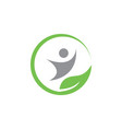 natural wellness logo icon design template vector image