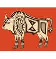 original ethnic tribal bison drawing vector image