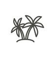 palm icon outline island tree line palm s vector image vector image