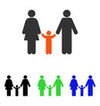parents and child flat icon vector image