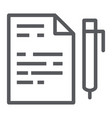 quiz line icon school and education exam sign vector image vector image