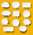 retro speech bubble with yellow background vector image