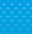 robot collector pattern seamless blue vector image