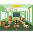 School Classroom Template vector image vector image