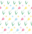 seamless background from spring flowers pattern vector image vector image