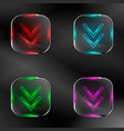 set of transparent buttons vector image vector image