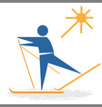 skier from collection the sports vector image vector image