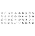 skin care line icons set of cream serum drop and vector image vector image