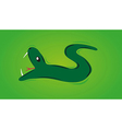 snake with open mouth vector image