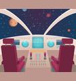 spaceship cockpit shuttle inside interior vector image vector image