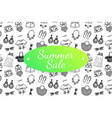 summer sale banner with hand drawn fashion clothes vector image vector image