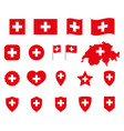 switzerland icons set national flag vector image vector image
