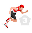 Triathlon 2016 Sports 3D Isometric vector image vector image