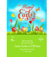 tulips poster holiday easter vector image