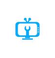 tv service logo template design vector image