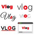 vlog video blogging concept vector image vector image