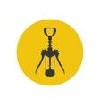 Wine corkscrew silhouette vector image vector image