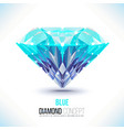 Blue diamond shape vector image