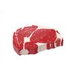 beef tenderloin slice of steak fresh meat vector image