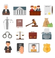Law justice legal court lawyer judgment judge vector image