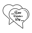 love valentines day card hearts shape bubble vector image