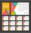 2018 calendar desk calendar modern design