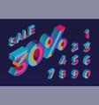 30 sale 0 1 2 3 4 5 6 7 8 9 isometric vector image vector image