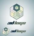 3d logo 3 vector image