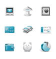 Bank and finance buttons vector image vector image