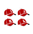 baseball caps with capital letters alphabet vector image vector image